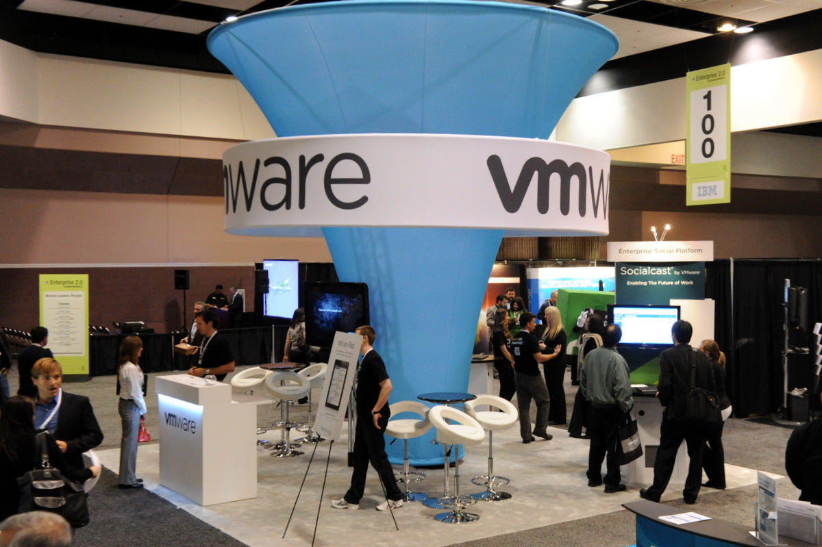 VMware booth at the Enterprise 2.0 Conference