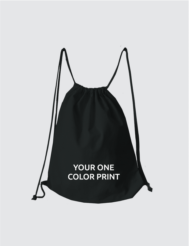 Custom print drawstring bag made by Teenah