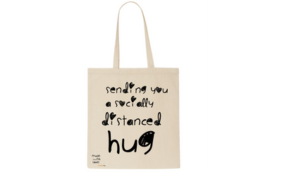 sending you a hug cotton toe bag