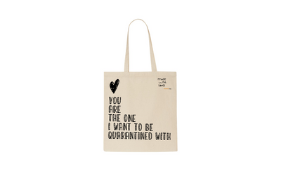 Quarantined with you cotton tote bag