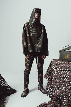 "Zargara ""The Enemy"" Firing Squad Camo Drawstring Pants (Unisex), Ottawa fashion streetwear from Season 6: ""Leave No Man Behind"""