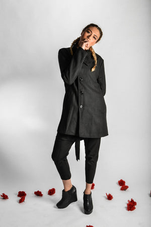 "High Collar Long Trench Coat (Unisex) // Zargara Season 4 ""The Flower Rises"" // www.zargara.com"