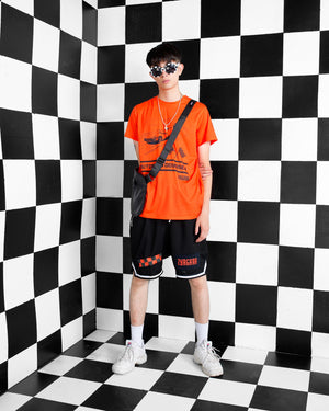 """AUTOBAHN ODYSSEY"" Orange Tee, Zargara Fashion Label, Ottawa, Canada, 179 George st"