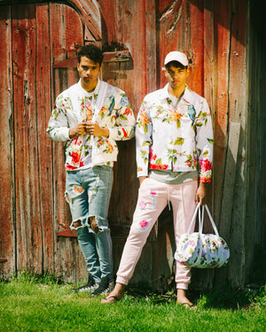 """Wildflower"" Pink Jogger Pants, from fashion label Zargara Season 7: ""Divine Souls of Eden"", Ottawa, Canada"