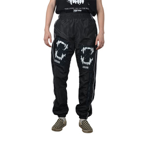 """The Lambs are on the Run"" Black Track Pants, Zargara Label, Ottawa, Canada"