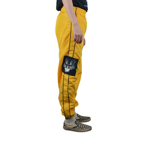 """It's Hunting Season"" Yellow Track Pants, Zargara Label, Ottawa, Canada"