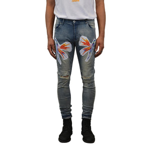 """Bird of Paradise"" Distressed Jeans, from fashion label Zargara Season 7: ""Divine Souls of Eden"", Ottawa, Canada"