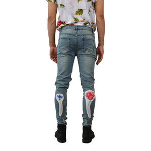 """of Eden Butterfly"" Distressed Jeans, from fashion label Zargara Season 7: ""Divine Souls of Eden"", Ottawa, Canada"