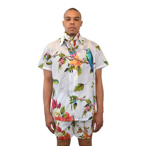 """of Eden"" Short Sleeve Shirt, from fashion label Zargara Season 7: ""Divine Souls of Eden"", Ottawa, Canada"