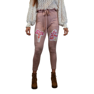 """Wildflower"" High Waisted Pink Pants , from fashion label Zargara Season 7: ""Divine Souls of Eden"", Ottawa, Canada"