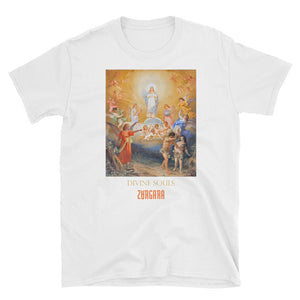 """Divine Souls"" White tee, from fashion label Zargara Season 7: ""Divine Souls of Eden"", Ottawa, Canada"
