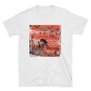 """Fallen Angel"" White tee from Season 8 ""Inferno: From the Ashes"" by Zargara label"
