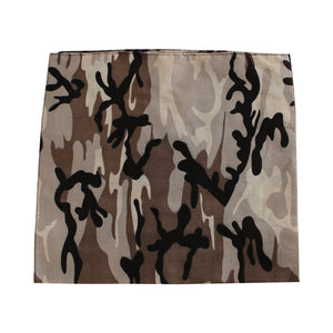 "Zargara ""The Friendly"" Brown Camo Bandana, Ottawa fashion streetwear from Season 6: ""Leave No Man Behind"""