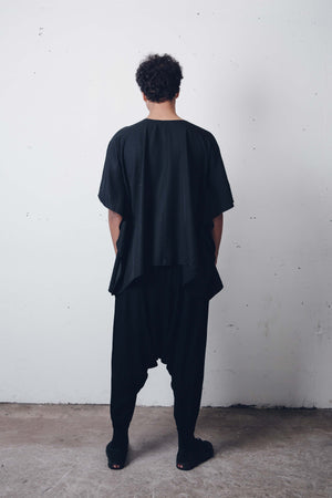 00 Oversize Black Shirt by Zargara Label