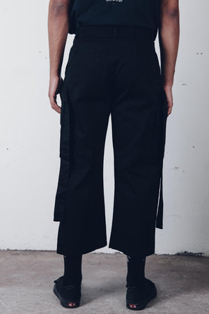 "Zargara ""The Moaner"" Velcro Strapped Black Pants (Unisex), Ottawa fashion streetwear from Season 6: ""Leave No Man Behind"""