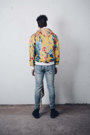 """Peacock Garden"" Bomber Jacket, from fashion label Zargara, Ottawa, Canada"