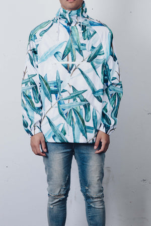 """Green Conservatory"" Hooded Windbreaker by Zargara Label"