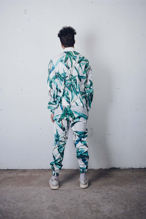 """Green Conservatory"" Track Pants by Zargara Label"