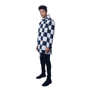 """Checkmate"" Rain Coat by Zargara Label"