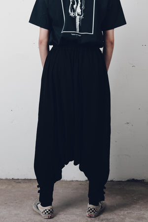 """Virgil"" Drop Crotch Linen Pants from Season 8 ""Inferno: From the Ashes"" by Zargara label"