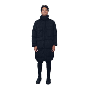 """Dante"" Black Multi Pocket Padded Parka from Season 8 ""Inferno: from the Ashes"" by Zargara Label"