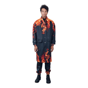"""Sinners"" Neoprene Trench Coat from Season 8 ""Inferno: from the Ashes"" by Zargara Label"