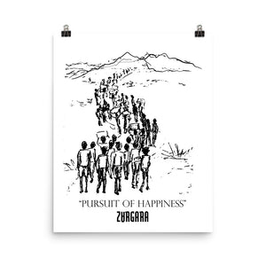 """Pursuit of Happiness"" Print (8x10 to 24x36) by Zargara label, Ottawa, Canada, Concept Art"