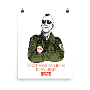 """I Got Some Bad Ideas in my Head"" Print (8x10 to 24x36) by Zargara label, Ottawa, Canada, Concept Art. Inspired by the Martin Scorsese's Taxi Driver"