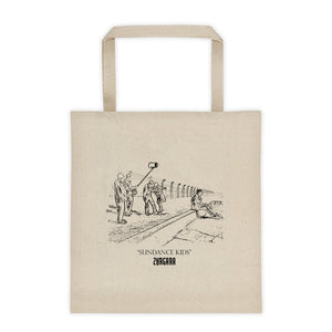 """Sundance Kids"" Canvas Tote Bag. Concept Art by Zargara label from Ottawa, Canada in honor of our first time at Sundance Film Festival"