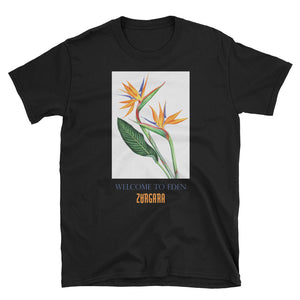 """Welcome to Eden"" Black tee"