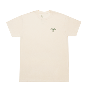 'CYANIDE' TEE (NATURAL/FOREST GREEN)