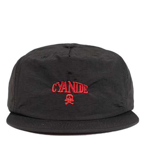 'CYANIDE' NYLON CAP (BLACK/RED)