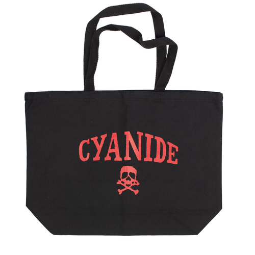 'CYANIDE' TOTE (BLACK/RED)