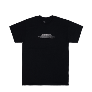 'NO ARTWORK' TEE (BLACK)