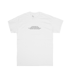 'NO ARTWORK' TEE (WHITE)