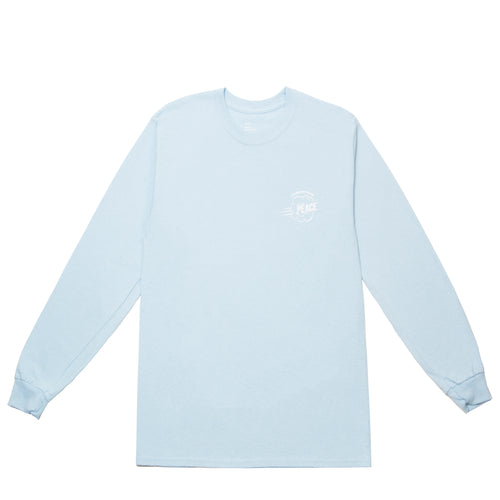 'FINALLY FOUND PEACE' LONG SLEEVE (BABY BLUE)