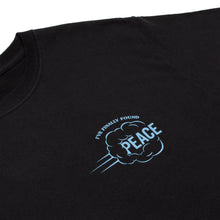 'FINALLY FOUND PEACE' TEE (BLACK/BABY BLUE)