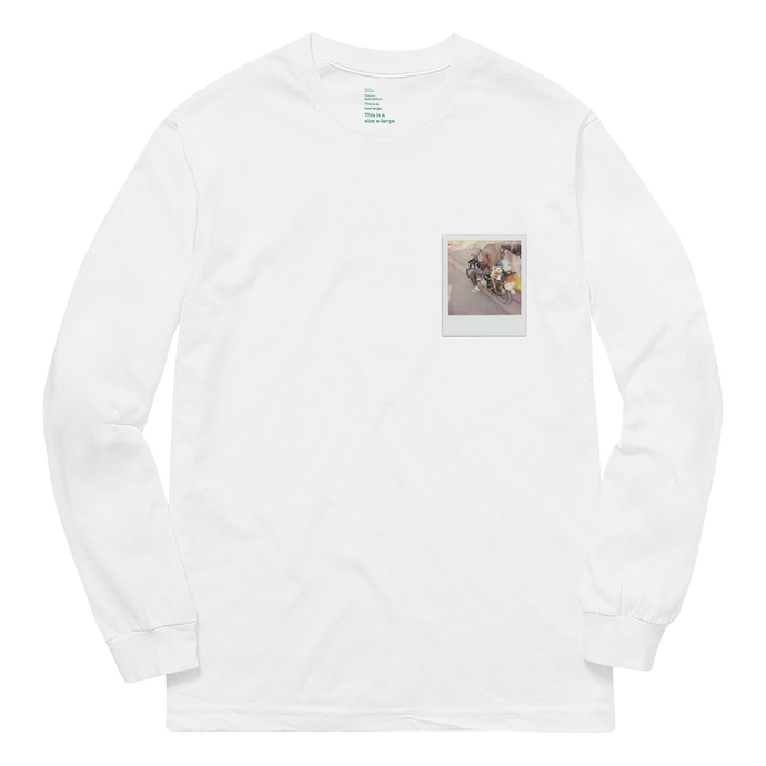 'GLORIA'S FLOWER SHOP' LONG SLEEVE (WHITE)