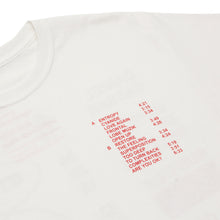 'RUN TIME' TEE (WHITE/RED)