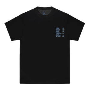 'RUN TIME' TEE (BLACK/BABY BLUE)