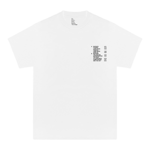 'RUN TIME' TEE (WHITE/BLACK)
