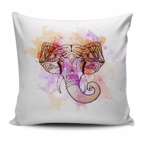 Introducing the Watercolor Elephant Pillow Cover