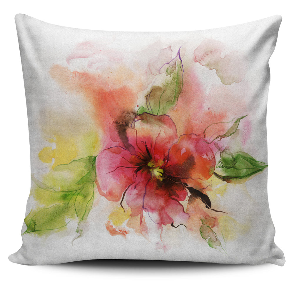 Watercolour Flower Pillow Cover