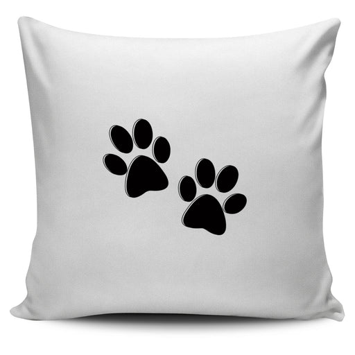 Black Paw Pillow Cover