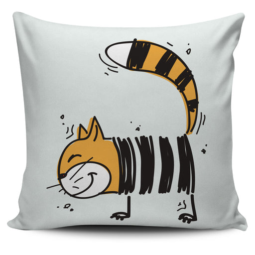 Cartoon Cat Throw Pillow Cover 2 | Cat Pillow | Cute Throw Pillows | Cat Decor | Absract Cat Painting | Cat Lovers