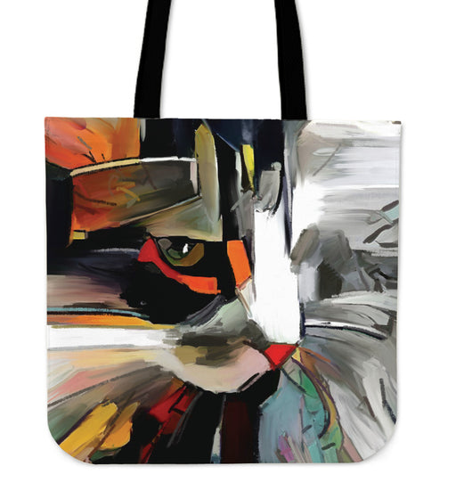 Abstract Canvas Tote Bag #2 - Gifts for Cat Lovers