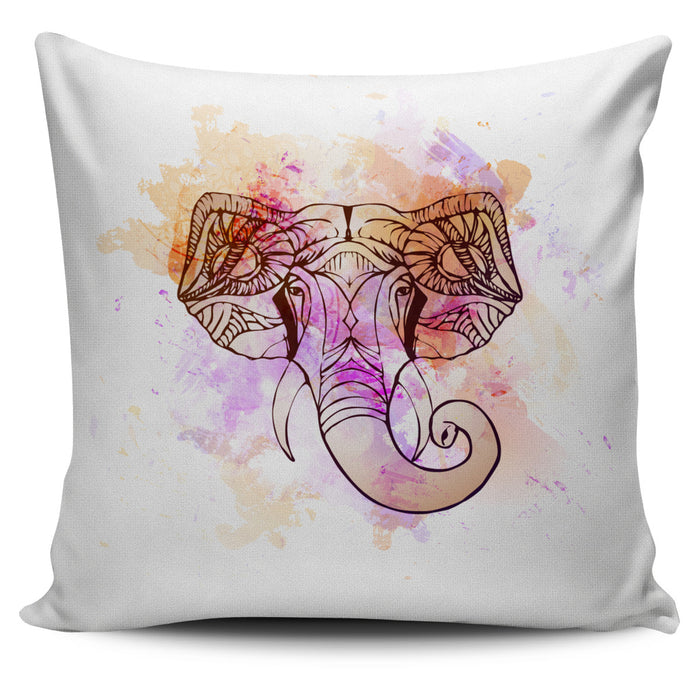 Watercolor Elephant Throw Pillow Cover