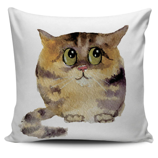 Cute Chubby Cat Throw Pillow Cover 2 | Cat Pillow | Cute Throw Pillows | Cat Decor | Absract Cat Painting | Cat Lovers
