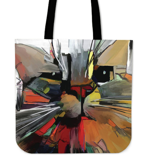 Abstract Cat #2 Women's Large Tote Bags | Beach Bag Tote | Large Tote Bags | Canvas Shopping Bags | Totes |