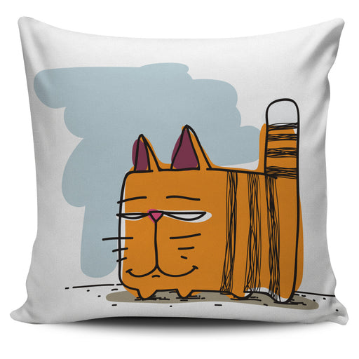 Cartoon Cat Throw Pillow Cover 1 | Cat Pillow | Cute Throw Pillows | Cat Decor | Absract Cat Painting | Cat Lovers